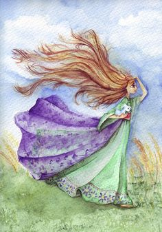 Mi cabello al viento (My hair to wind) Hair In The Wind, Wind Hair, Sketches, Drawings, Nature, Cute, Weather, Paintings, Work Of Art