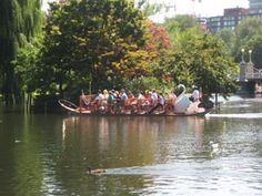 The Swan Boats in Boston Garden