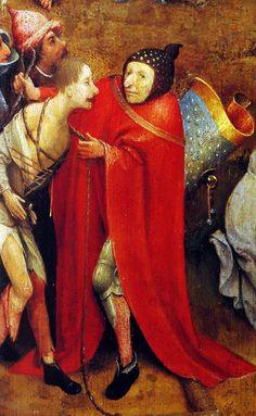 Hieronymus-Jérôme Bosch - Primitif Flamand - La Montée au Calvaire, detail. Jerome Bosh, Renaissance, Dream Symbols, Italian Paintings, Hieronymus Bosch, Dutch Painters, Types Of Art, Figure Painting, Paintings
