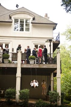 Backyard Virginia Wedding from Modern Life Portraits Swings under deck- we had one of these at my pa Patio Under Decks, Decks And Porches, Outdoor Rooms, Outdoor Living, Outdoor Decor, Outdoor Play, Fresco, Condo, Backyard Patio