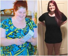 """""""Today is my 1 year Trimmiversary.   I'm 98.6 pounds down and couldn't be prouder. The first picture is 10 days before I started Trim Healthy Mama and the second one is today."""" - Loren M. www.TrimHealthyMama.com"""