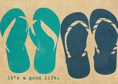 Thanks so much pinning my print!  Flip flops by DawnSmithDesigns.