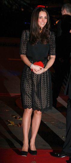 Temperley dress, Jimmy Choo pumps, McQueen clutch