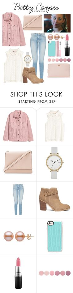 """""""Betty Cooper // Riverdale"""" by bellaangelina ❤ liked on Polyvore featuring Kate Spade, Skagen, Sole Society, Casetify, MAC Cosmetics, Deborah Lippmann and Ted Baker"""