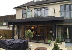 House Extension Design, Extension Designs, Roof Extension, Extension Ideas, Conservatory Roof, Balcony Railing, Bungalow Extensions, House Extensions, Rubber Tiles