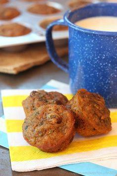 Healthy Carrot Zucchini Whole Wheat Mini Muffins