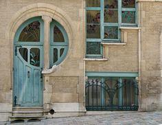 Unusual blue door and window by Gmomma