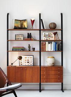 mid-century modern shelving