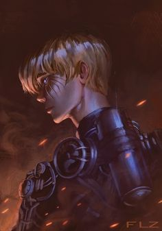 Armin Arlert, the Regretful - Attack on Titan Fanart Painting, Gabriel Flauzino
