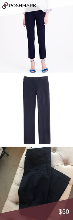 J.Crew Campbell Dress Pant in Bi-stretch Cotton EUC. Selling because I work in a casual dress environment now and these simply don't get worn.   Made in new and improved bi-stretch cotton, which hugs your body and won't bag out. It has a little kick at the hem and looks good on just about everyone. Expect compliments from friends, coworkers and probably complete strangers.  Cotton/rayon/spandex. Slant pockets, back welt pockets. Machine wash.  Sits just above hip. Fitted through hip & thigh…