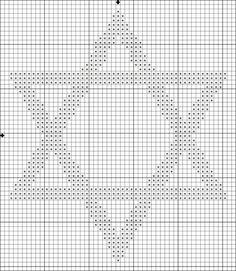 Free Judaica-Themed Cross Stitch Patterns: Free Medium Star of David Cross Stitch Pattern