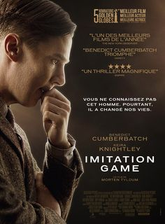 Imitation Game est un film de Morten Tyldum avec Benedict Cumberbatch, Keira… Alan Turing, Films Cinema, Cinema Posters, Movie Posters, Benedict Cumberbatch, Matthew Goode, Keira Knightley, Great Films, Good Movies