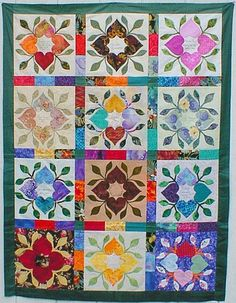 The Heart Circle Quilter's Retreat. I like the use of the different fabrics to make the lattice of the quilt.