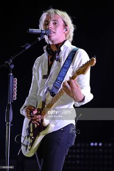 Ross Lynch of R5 performs at the Mizner Park Amphitheatre on July 8, 2015 in Boca Raton, Florida.