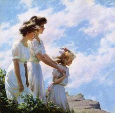 Charles Courtney Curran 1861-1942 | pintor impresionista estadounidense