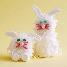 Marshmallow Bunnies- these bunnies are so cute! Desserts Ideas, Coconut, Easter Bunnies, Marshmallows Bunnies, Kids, Easter Bunny, Easter Treats, Easter Ideas, Marshmallows Treats