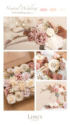 Neutral Fall Wedding - Colors Real Touch Rose, Off First Order Neutral Fall Wedding - Colors Real Touch Rose, Off First Order Anaïs Bkc-mj - Fall Wedding Decorations, Wedding Centerpieces, Wedding Bouquets, Wedding Flowers, Wedding Ideas, Rose Flowers, Wedding Cakes, Wedding Pictures, Wedding Details