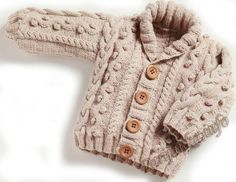 Baby Cardigan Knitting Pattern Free, Baby Knitting Patterns, Baby Patterns, Crochet Patterns, Knit Baby Sweaters, Knitted Baby Clothes, Boys Sweaters, Knitting For Kids, Free Knitting