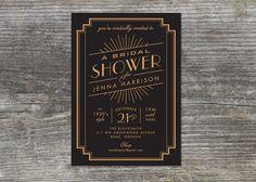 Bridal Shower Einladung 20er Jahre inspiriert von brightsideprints
