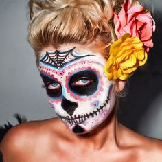 By Black Box Photography Kokomo, Indiana USA Sugar Skull Model Amanda  Face painted