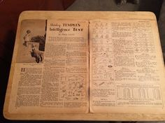 SHIRLEY TEMPLE - Vintage 1936  Article - 2 Pages