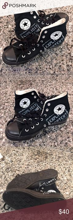 Black hightop Converse Only wore once! I love them but they are the wrong size for me. Today I am taking 3️⃣0️⃣% off when you buy 3️⃣ or more items in my closet! FREE PAIR OF EARRINGS WITH EVERY BUNDLE ORDER! ✨P.S. I 💜OFFERS!!!✨📦💌SHIP DAILY💌📦❤️❤️ Customer Appreciation/ DEGOTTO DOLLAR$ ❤️❤ I want my customers to know how much I appreciate them! Anyone that makes a purchase, will receive a coupon with their package to get $10 off their next order. I want my customers to be happy! 😘…