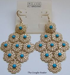 Turquoise Earrings from Lord & Taylor