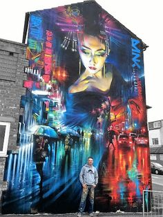 New Street Art by Dan Kitchener in Blackpool, UK for the Sand Sea & Spray festival. #StreetArt #Graffiti #Mural