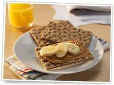 Ryvita, peanut butter & banana