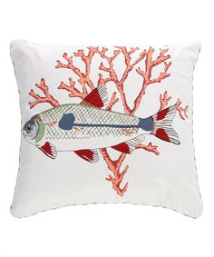 Levtex Home Coral & Fish Throw Pillow | zulily