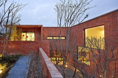 Image 15 of 31 from gallery of Fortress Brick House / Wise Architecture. Photograph by Roh Kyung Brick Architecture, Architecture Photo, Concrete Stone, The Neighbourhood, Scenery, Exterior, Mansions, House Styles, Gallery