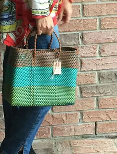 Mexican Style Ethnic Woven Bag Small Size Casual by Spiralspiral