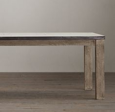 Drifted Oak Parsons Rectangular Extension Dining Table - Rh concrete table