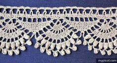 Crochet Shell Popcorn Edging MyPicot | Free crochet patterns