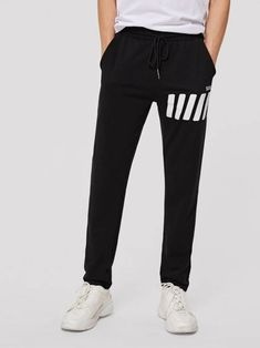 SHEIN Men Drawstring Waist Striped Joggers mens fashion casual mens fashion edgy mens fashion smart mens fashion rustic mens fashion summer me Rustic Mens Fashion, Older Mens Fashion, Young Fashion, Mens Fashion Suits, Fashion Edgy, Fashion Night, Fashion Vintage, Fashion Trends, Rugged Style
