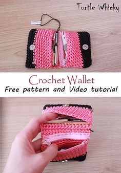 HOW TO CROCHET EASY WALLET/PURSE | Turtle Whicky Crochet | Home