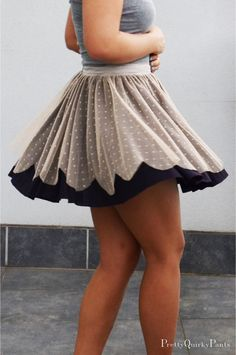 Pretty Quirky Pants | DIY Circle Lace Scallop Layer Skirt