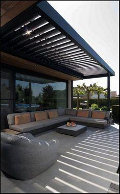 Outdoor Decor, Garden Design, Modern Pergola, House With Porch, Patio Trends, Terrace Design, Patio Design