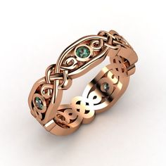 The Brilliant Alhambra Band #customizable #jewelry #alexandrite #rosegold #ring