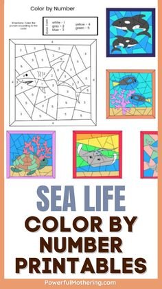 Let's go on a maritime adventure! With this themed educational printable, you may share the wonders of nature! Check out the blog for more details on these Sea Life Color By Number Printables. This coloring activity is perfect for toddlers and preschoolers that serves as an educational activity to hone their creativity. Super fun, hassle-free as well, this fun toddler craft is definitely the way to go! #educantionalcrafts #coloringbynumberactivity #easytoddlerworksheets #freeprintables Color Activities, Fun Activities For Kids, Educational Activities, Toddler Preschool, Toddler Crafts, Toddler Worksheets, Printable Numbers, Color Of Life, Cool Kids