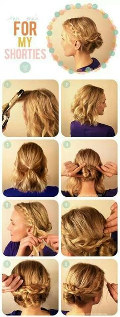 Up do for shoulder length hair