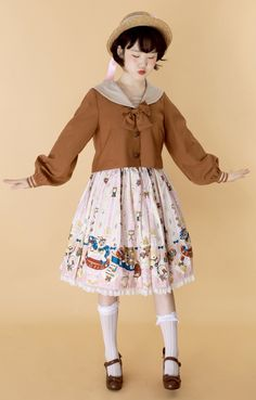 49 Ideas Style School Girl Cute Outfits For 2019 Kawaii Fashion, Lolita Fashion, Cute Fashion, Asian Fashion, Fashion Poses, Fashion Outfits, Cute Dresses, Cute Outfits, Japanese Street Fashion