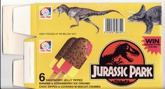 1993 Tip-Top Jurassic Park Ice Cream Box - Front - New Zealand | by NZCollector