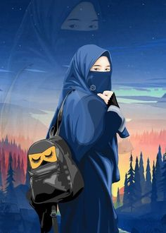 Image may contain: one or more people Drawing Cartoon Characters, Character Drawing, Cartoon Drawings, Cartoon Icons, Cartoon Wallpaper, Cute Girl Wallpaper, Tmblr Girl, Muslim Pictures, Hijab Drawing