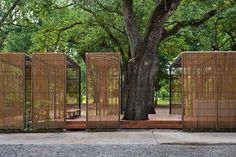 New-Orleans-Botanical-Garden-Duplantier-Volunteer-Pavilion … - Garten Design Pavilion Architecture, Landscape Architecture, Landscape Design, Architecture Design, Sustainable Architecture, Residential Architecture, Contemporary Architecture, Garden Pavilion, Outdoor Pavilion