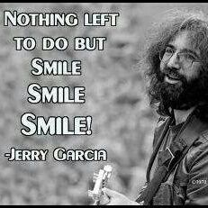 Smiles are contagious :) The great late Gerry Garcia of 'The Grateful Dead'. [I was lucky to see them play in :) Music Love, Good Music, Music Music, Woodstock, Beatles, Hippie Love, Hippie Peace, Happy Hippie, Dead And Company