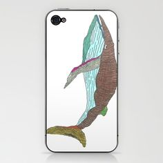 Technicolor Whale - Marker Art iPhone & iPod Skin - by Romi Vega