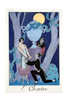 Avarice, from 'Falbalas and Fanfreluches, Almanach des Modes Présentes, Passées et Futures', 1925 Giclée-tryk af Georges Barbier på AllPosters.dk
