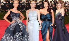 Karolina Kurkova, Diane Kruger and Kim Kardashian in blue at Met Gala