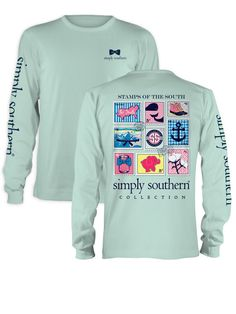 Simply Southern Stamps Shirt - Mint from Chocolate Shoe Boutique
